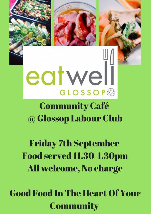 Eat  Well Lunch . Friday  7th September 11.30 to 1.30