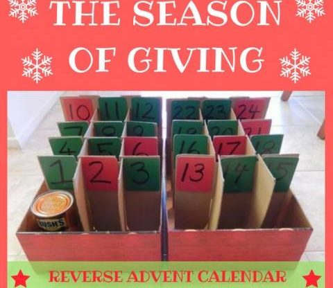 Reverse Advent Calendar for Glossopdale Foodbank
